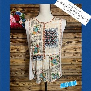 Anthropologie Tiny Floral Mixed Print Boho Top🌸M